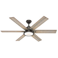 Hunter Fan 59461 Warrant 60 inch Noble Bronze with Barnwood/Drifted Oak Blades Ceiling Fan
