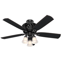 Hunter Fan 59545 Promenade 54 inch Glossy Black with Black Oak Blades Ceiling Fan
