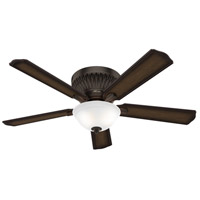 Hunter Fan 59548 Chauncey 54 inch Onyx Bengal with Burnished Aged Maple/Aged Maple Blades Ceiling Fan Low Profile
