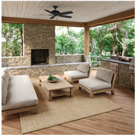 Hunter Fan 53348 Rainsford 52 inch Matte Black Outdoor Ceiling Fan  alternative photo thumbnail
