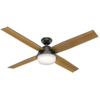 Hunter Fan 59443 Dempsey 60 inch Noble Bronze with Mid Century Walnut/Umber Walnut Blades Ceiling Fan