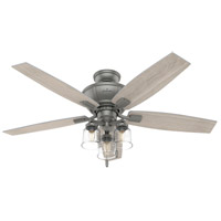 Hunter Fan 50402 Charlotte 52 inch Matte Silver with Light Gray Oak Blades Ceiling Fan