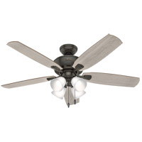 Hunter Fan 53215 Amberlin 52 inch Noble Bronze with Light Gray Oak/American Walnut Blades Ceiling Fan