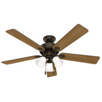 Hunter Fan 50887 Swanson 52 inch New Bronze with American Walnut/Greyed Walnut Blades Ceiling Fan