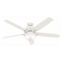 Donegan 60 inch Fresh White with Fresh White/Light Grey Oak Blades Indoor Ceiling Fan