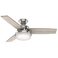 Hunter Fan 50394 Sentinel 44 inch Brushed Nickel with Light Gray Oak/Greyed Walnut Blades Ceiling Fan
