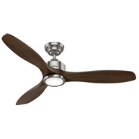 Hunter Fan 50789 Melbourne 52 inch Brushed Nickel with Dark Toasted Walnut Blades Ceiling Fan