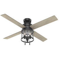 Hunter Fan 50269 Astwood 52 inch Matte Black with Bleached Grey Pine Blades Ceiling Fan