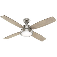 Hunter Fan 50388 Wingate 52 inch Brushed Nickel with Bleached Grey Pine/American Walnut Blades Ceiling Fan