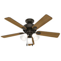 Hunter Fan 50881 Swanson 44 inch New Bronze with American Walnut/Greyed Walnut Blades Ceiling Fan photo thumbnail