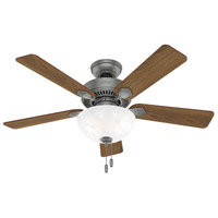 Hunter Fan 50904 Swanson 44 inch Matte Silver with Autumn Walnut/Natural Wood Blades Ceiling Fan