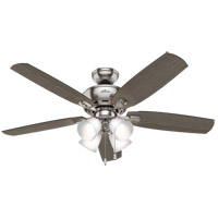 Hunter Fan 53216 Amberlin 52 inch Brushed Nickel with Greyed Walnut/Autumn Walnut Blades Ceiling Fan