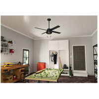 Hunter Fan 50336 Spring Mill 52 inch Matte Black Outdoor Ceiling Fan alternative photo thumbnail