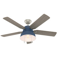 Hunter Fan 50252 Mill Valley Indigo Blue with Washed Walnut Blades Outdoor Ceiling Fan