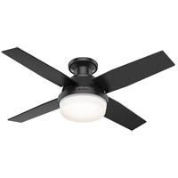 Hunter Fan 50400 Dempsey Matte Black with Matte Black/Dark Walnut Blades Outdoor Ceiling Fan