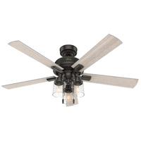 Hunter Fan 50311 Hartland 52 inch Noble Bronze with Light Gray Oak Blades Ceiling Fan