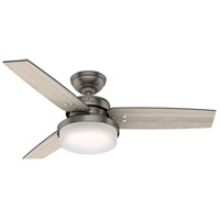 Hunter Fan 50393 Sentinel 44 inch Brushed Slate with Light Gray Oak/Greyed Walnut Blades Ceiling Fan