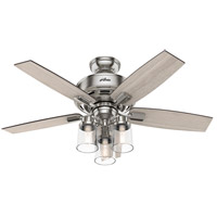 Hunter Fan 50417 Bennett 44 inch Brushed Nickel with Grey Walnut/Light Grey Oak Blades Ceiling Fan