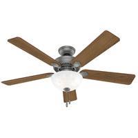 Hunter Fan 50909 Swanson 52 inch Matte Silver with Autumn Walnut/Natural Wood Blades Ceiling Fan