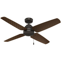 Hunter Fan 59619 Sunnyvale 52 inch Premier Bronze with P.A. Cocoa Blades Outdoor Ceiling Fan