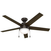 Hunter Fan 50232 Anslee 52 inch Premier Bronze with American Walnut/Dark Walnut Blades Ceiling Fan