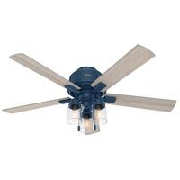 Hunter Fan 50312 Hartland 52 inch Indigo Blue with Light Gray Oak Blades Ceiling Fan