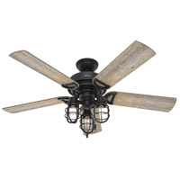 Hunter Fan 50409 Starklake 52 inch Natural Iron with Barnwood/Washed Walnut Blades Outdoor Ceiling Fan