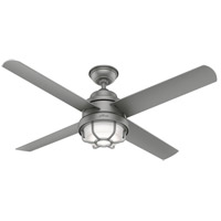 Hunter Fan 55085 Searow 54 inch Matte Silver Outdoor Ceiling Fan
