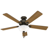 Hunter Fan 50901 Swanson 52 inch New Bronze with American Walnut/Greyed Walnut Blades Ceiling Fan