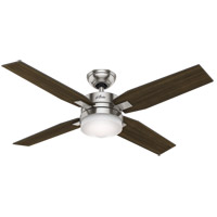 Hunter Fan 59207 Mercado 50 inch Brushed Nickel with Dark Walnut/Cherry Blades Ceiling Fan