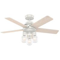 Hunter Fan 51331 Hardwick 44 inch Fresh White with White Oak/Fresh White Blades Ceiling Fan