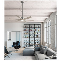 Hunter Fan 50773 Rhinebeck 58 inch Matte Silver with Weathered White Birch Blades Ceiling Fan alternative photo thumbnail