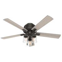 Hunter Fan 50313 Hartland 52 inch Noble Bronze with Light Gray Oak Blades Ceiling Fan