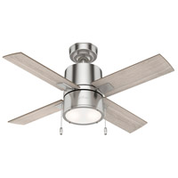 Hunter Fan 53432 Beck 42 inch Brushed Nickel with Light Gray Oak/Warm Grey Oak Blades Ceiling Fan