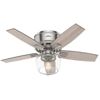 Hunter Fan 50420 Bennett 44 inch Brushed Nickel with Grey Walnut/Light Grey Oak Blades Ceiling Fan