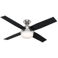 Hunter Fan 59451 Dempsey 52 inch Brushed Nickel with Black Oak/Chocolate Oak Grain Blades Ceiling Fan