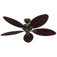 Hunter Fan 50473 Bayview 54 inch Provencal Gold with Antique Dark Blades Outdoor Ceiling Fan