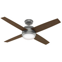 Hunter Fan 59616 Oceana 52 inch Matte Silver with P.A. Cocoa Blades Outdoor Ceiling Fan