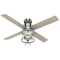 Hunter Fan 50270 Astwood 52 inch Polished Nickel with Bleached Grey Pine Blades Ceiling Fan
