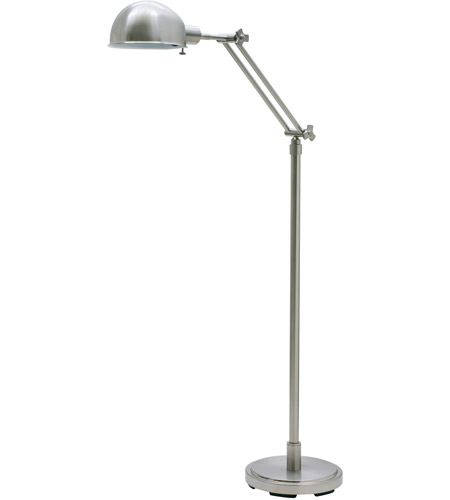 House of Troy AD400-SN Addison 48 inch 75 watt Satin Nickel Floor Lamp Portable Light photo