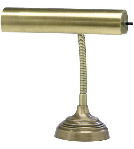 House of Troy AP10-20-71 Advent 12 inch 40 watt Antique Brass Piano Lamp Portable Light in 11.5  photo