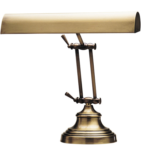 House of Troy AP14-41-71 Advent 12 inch 40 watt Antique Brass Piano Lamp Portable Light photo