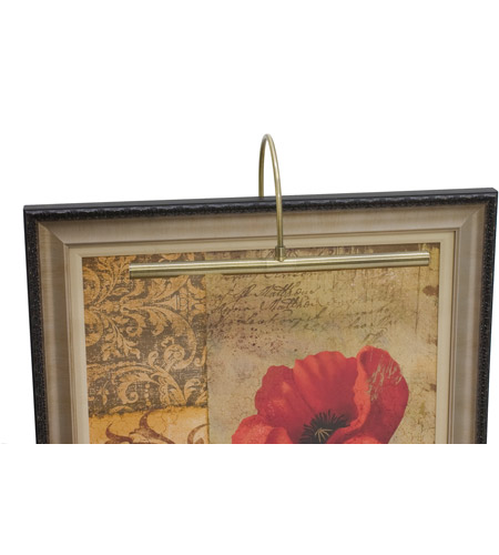 House of Troy APL16-71 Advent 4 watt 16 inch Antique Brass Picture Light Wall Light, on/off switch located 3FT from the plug-in driver on an 8FT long ivory cord. photo