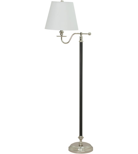 House of Troy B502-BPN Bennington 58 inch 150 watt Black with Polished Nickel Floor Lamp Portable Light in Black and Polished Nickel photo