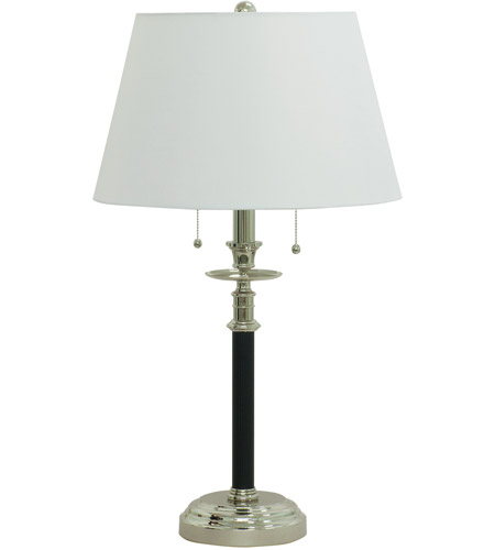 House of Troy B550-BPN Bennington 28 inch 100 watt Black with Polished Nickel Table Lamp Portable Light in Black and Polished Nickel photo