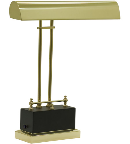 House of Troy BPLED200-617 Piano and Desk 14 inch 3.2 watt Black & Brass Piano Lamp Portable Light in Black and Brass photo