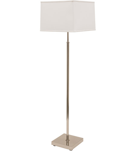 House of Troy BU200-PN Burke 51 inch 100 watt Polished Nickel Floor Lamp Portable Light photo