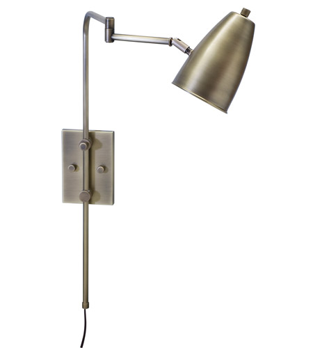 House of Troy Cambridge 1 Light Wall Swing Arm in Antique Brass C175-AB photo