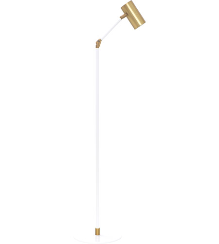House of Troy C300-WB/WT Cavendish 42 inch 6 watt Weathered Brass and White Task Floor Lamp Portable Light photo
