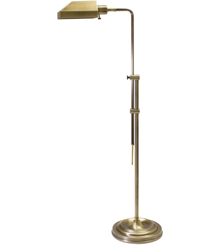 House of Troy Coach 1 Light Floor Lamp in Antique Brass CH825-AB photo